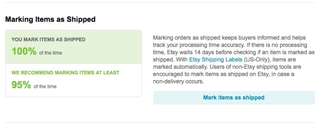 You will know immediately when your order was shipped, because we mark it for you!