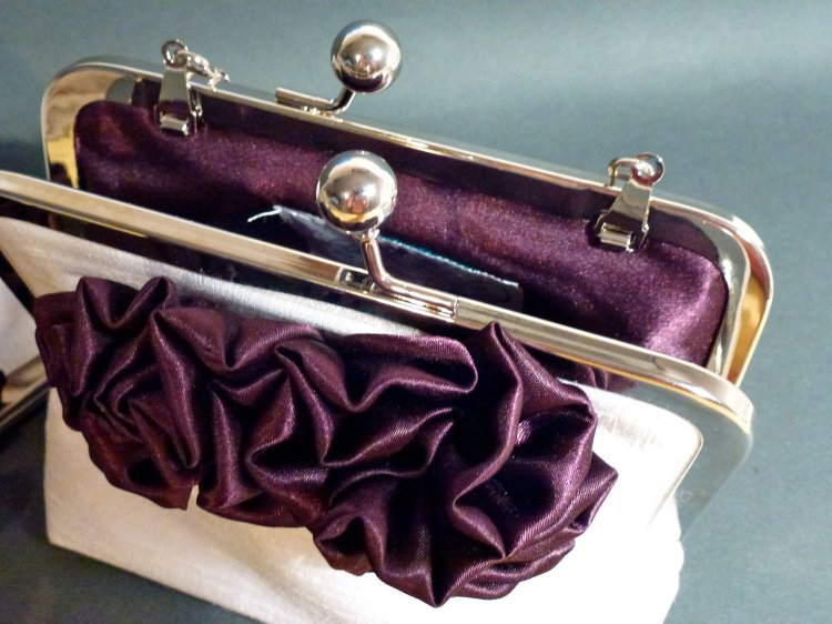 All of Cynthia's clutches are made with beautiful inner material such as this beauty, here.