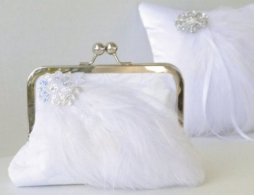 A great combo gift for the Spring bride.  Open the clutch for a little heartfelt surprise.