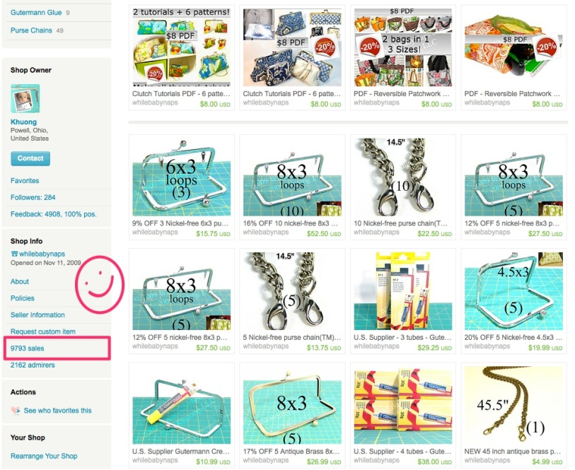 Whose Etsy cart will have the 10,000th item?