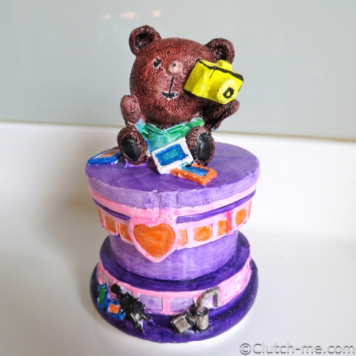 paint figurine bear camera