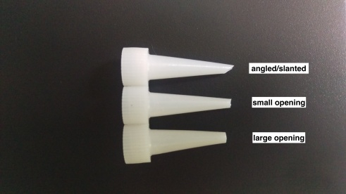 various applicator tips